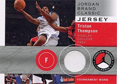 (Tristan Thompson player worn jersey patch basketball card (Findlay College Prep, Texas Longhorns) 2011 Upper Deck Rookie #JBCTT)