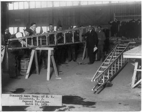 Photo: Caproni fusilage for airplane,Standard Aero Corp.,Elizabeth,Union - Nj In Elizabeth Stores
