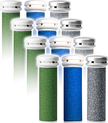 Emjoi Micro-Pedi Refill Rollers - (Extra, Super & Xtreme Coarse) - Pack of 12
