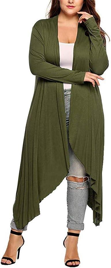 Womens Cardigan Winter Warm Ladies Side Zipper Irregular Hem Coat Outerwear Trench Coat