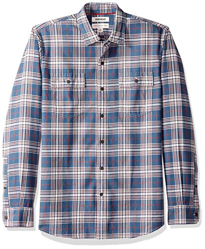 Amazon Brand - Goodthreads Men's Standard-Fit Long-Sleeve Plaid Twill Shirt