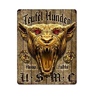 Amazon.com: USMC Devil Vintage Metal Sign Military Marine