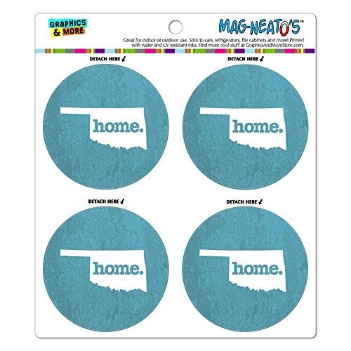 Oklahoma OK Home State MAG-NEATO'S(TM) Refrigerator Magnet Set - Textured Robin Egg - Oklahoma Sheet State Set