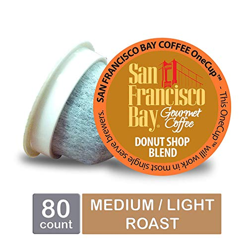 San Francisco Bay OneCup, Donut Shop, Single Serve Coffee K-Cup Pods (80 Count) Keurig ()