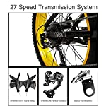 LANKELEISI-T750Plus-27-Speed-26-40-Fat-Bike-bicielettric-a-Pieghevole-1000W-48V-10Ah-Batteria-al-Litio-Nascosta-Bicicletta-da-Neve-a-Sospensione-Completa-Black-Green-Standard-1000W