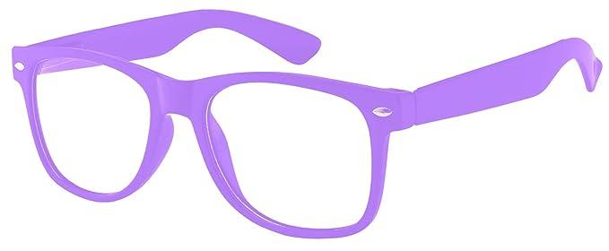 1755766d74a53 Clear Lens Classic Vintage Sunglasses Retro 80 s Purple Frame Glasses