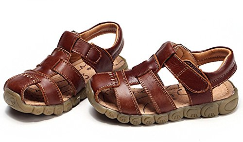 Zicoope Summer Outdoor Athletic Flat Sandals for Boys (Toddler/Little Kid) Brown 10 M by Zicoope (Image #3)
