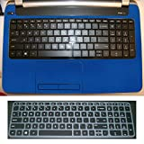 2in1 Wrist Palmrest Skin With Trackpad Touchpad Cover+ Keyboard Protector for 15.6