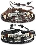 FIBO STEEL Leather Charm Bracelet for...