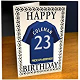 6c65fc90c6b PREMIER LEAGUE FOOTBALL CLUB SHIRT BIRTHDAY CARDS - FREE PERSONALISATION -  ANY NAME, ANY NUMBER