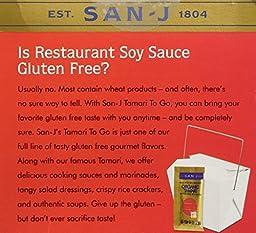 San-j Organic Tamari Gluten Free Soy Sauce Travel Packs 20x1/4fl.oz