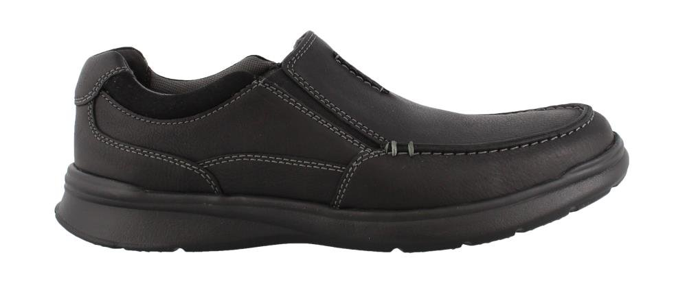 Clarks Men's Cotrell Free Shoe, black oily leather, 8.5 Medium US