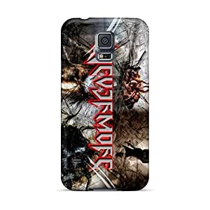 Durable Hard Cell-phone Cases For Samsung Galaxy S5 With Support Your Personal Customized High-definition Nevermore Band Skin KennethKaczmarek