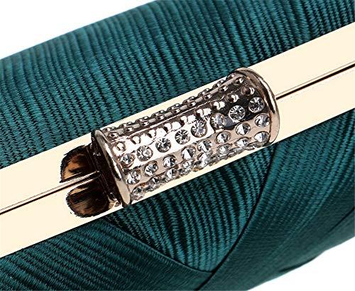 Purse Wedding Out Bag Tassel Party Silver Evening Prom SUNROLAN Bride Women's Elegant for Clutch Night YqHxnA1Cw