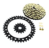 #5: 1989-2006 Yamaha YFZ 350 Banshee CZ Gold MX Chain & Black Sprocket 15/40 104L