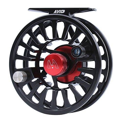 (M MAXIMUMCATCH Maxcatch Avid Fly Fishing Reel with CNC-machined Aluminum Alloy Body 3/4,5/6, 7/8wt (Silver,Black,Blue,Green) (Black, 7/8)
