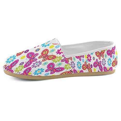 Mocassini Da Donna Di Interestprint Classico Su Tela Casual Slip On Fashion Shoes Sneakers Flat Multi 5