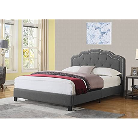 Best Quality Furniture B78F Upholstered Gray Bed Not Applicable Full
