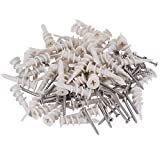 120 Pcs, Drywall Anchor with Stainless Steel Screws Sets, Plastic Self Drilling Hollow-Wall Anchor Kit.