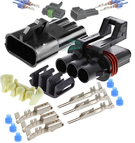 Delphi Metri-Pack 280 Series 3-Way Connector w/10-12 AWG Sealed Waterproof