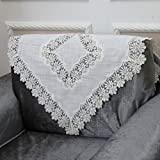 European style sofa back towel Lacy openwork sofa towel arm towel A 90x210cm(35x83inch)