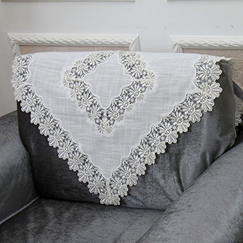 European style sofa back towel Lacy openwork sofa towel arm towel A 90x210cm(35x83inch) by Sofa towel