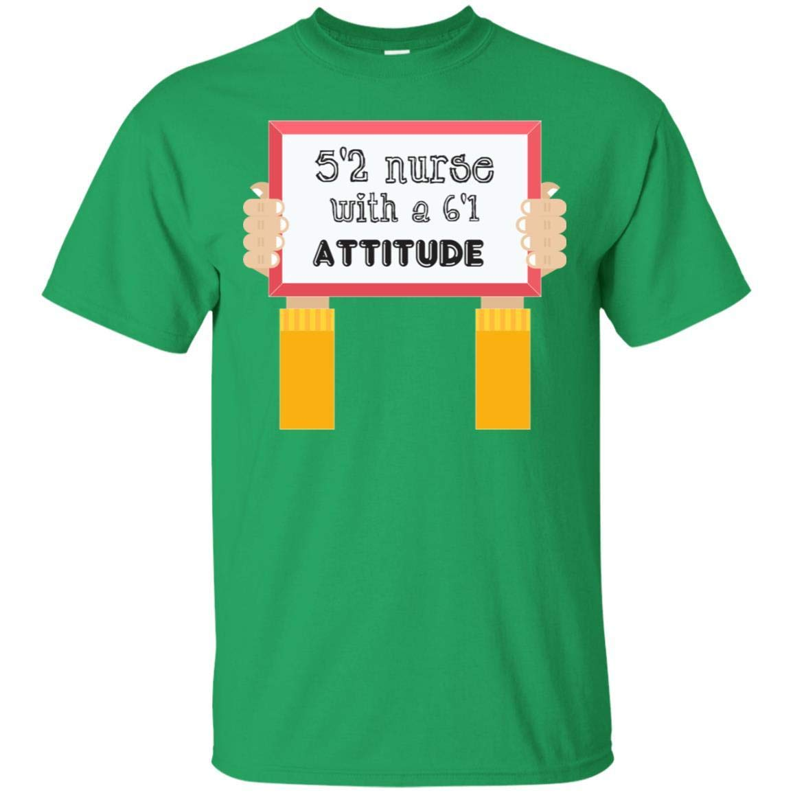 Teelesto 52 Nurse with A 61 Attitude Nursing Shirt