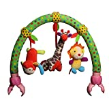 Luerme Baby Stroller Toy Pram Crib Arch Hanging Plush Toy Musical Rattle Toys (B)