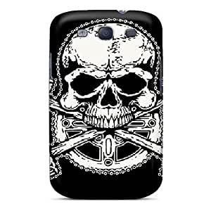 New Style Superface Bike Skull Premium Tpu Cover Case For Galaxy S3