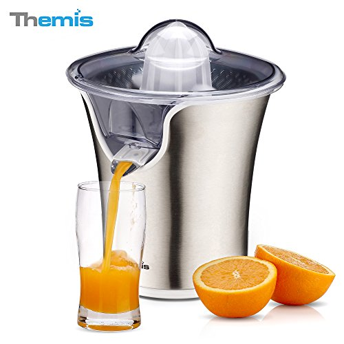 THEMIS CJ3372 85W Powerful Stainless Steel Whisper-quiet Citrus Juicer, Snap-up...