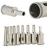 WILLAI 10pcs/Set Diamond Coated Hole Saw Ceramic Glass Marble Tiles Granite Drill Bit Cutter Tools 3-20mm
