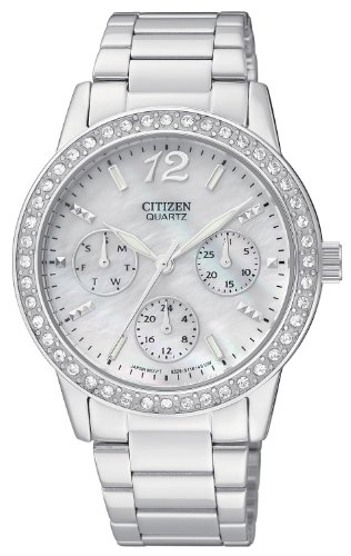 Citizen Women's ED8090-53D Analog Display Japanese Quartz Silver Watch