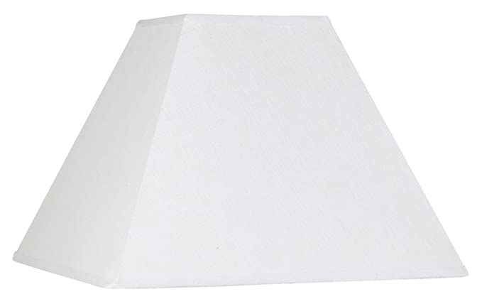 White Linen Square Lamp Shade 7x17x13 (Spider)