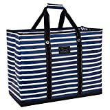 SCOUT 4 Boys Bag, Extra Large, Durable All Purpose Foldable Utility Tote, Folds Flat, Water Resistant, Zips Closed, Nantucket Navy