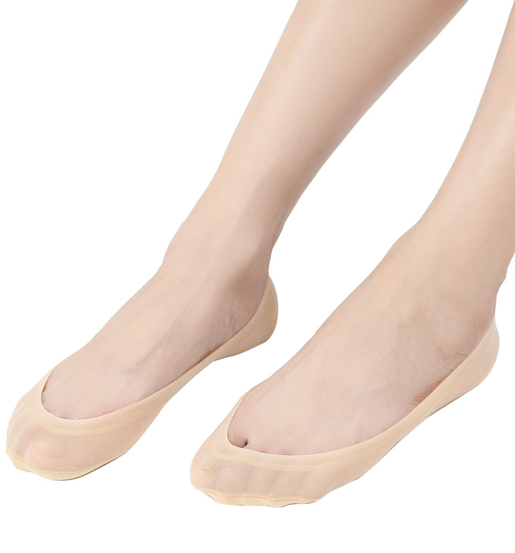4 Pairs No Show Socks Women for Flat Low Cut Socks Beige by Everbellus (Image #2)