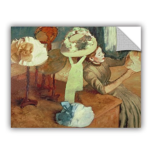 ArtWall Edgar Degas's The Millinery Shop Art Appeelz Removable Wall Art Graphic, 24 x 32