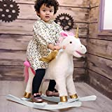 Plush Rocking Unicorn With Wings Stuffed Rocking Animals Rock On By HollyHOME