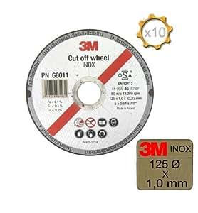 Disco 3m de desbaste (acero inoxidable Diámetro 125x 1,0mm grosor X 10