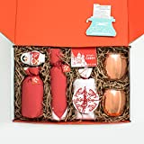 Moscow Mule Gift Box Set by Thoughtfully Gifts with Two Classic Copper Mugs Russian Doll Measuring Jigger Moscow Mule Cocktail Mix, Bundaberg Ginger Beer and Crystal Shaker Barware