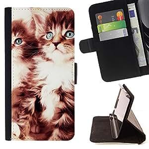 Momo Phone Case / Flip Funda de Cuero Case Cover - GATITOS LINDOS - Samsung Galaxy S5 Mini, SM-G800