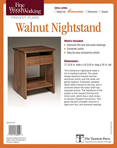 Fine Woodworking's Walnut Nightstand Plan