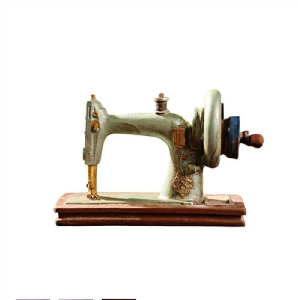 tobbrt Clásico Retro Máquina de Coser Modelo Adornos Muebles de Resina Antigua Máquina de Coser Miniatura Craft Bar Café Decoración del Hogar Regalos: Amazon.es: Hogar
