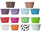 BleuMoo 100pcs Colorful Paper Cupcake Liner Muffin Cases Greaseproof Dessert Baking Cups Random Color