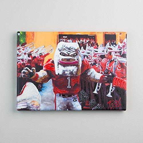 Glory Haus Georgia The Dawg Walk Canvas Print, Multicolor