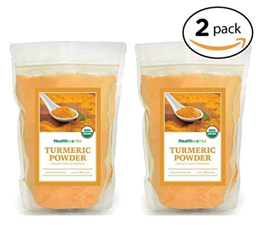 Healthworks Turmeric Root Powder (Curcumin) Organic, 2lb (2 1lb Packs)