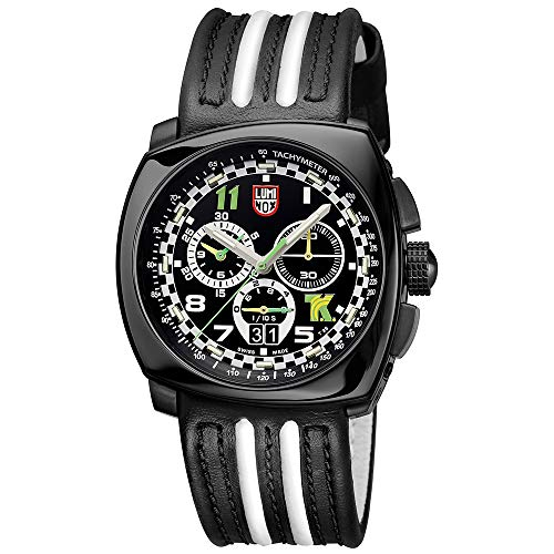 - Luminox Black Outdoor Mens Watch Tony Kanaan Limited Edition XL.1142-100 M Water Resistant Stainless Steel Chronograph Antireflective Sapphire Crystal