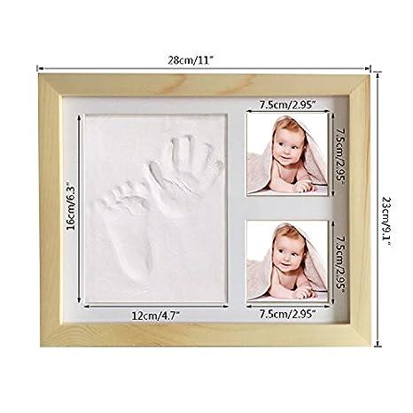 Baby Handprint Kit E Footprint Photo Frames Foto Per