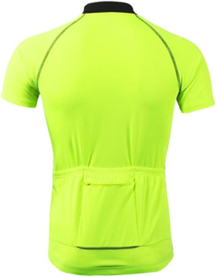 Gwell Maillot de Cyclisme pour Homme S/échage Rapide Respirant Maillot de V/élo Manches Courtes