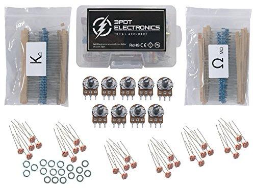 Resistor 1/4w 1%, Potentiometer B1k - B1M, Photoresistor LDR Assortment, 639 pcs