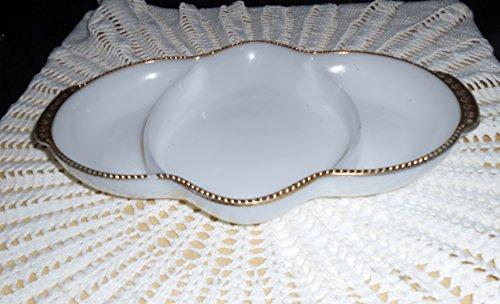 Fire King Golden Anniversary Swirl Serving Dish